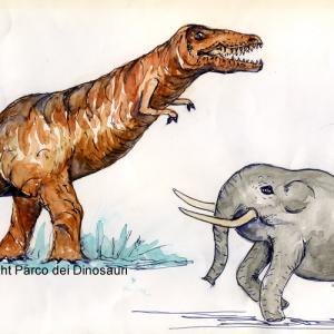 Tirannasauro-Elefante